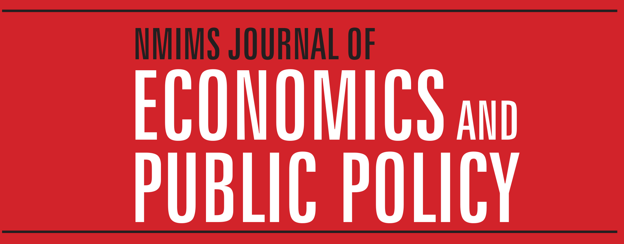 journal of economics and public policy primary menu